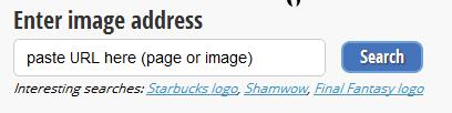 Или вводим ссылку в Enter image address
