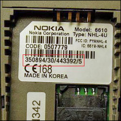 imei на телефон Nokia