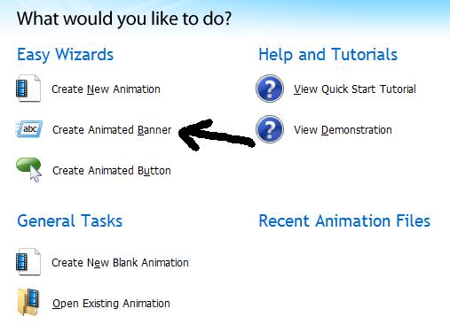 программа для создания баннеров - Create new animation