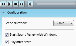 Конфигурация программы Sound Valley