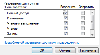 Разрешение в файле hosts для пользователя