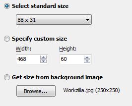 программа для создания баннеров - Select size