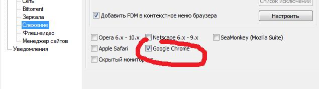 Слежение для браузера